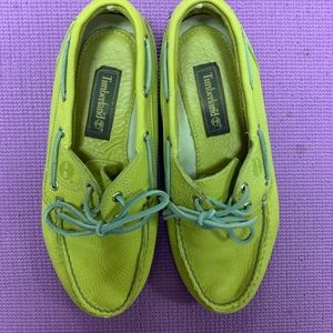 Timberland Men's 2 Eye Key Lime Green Boat Shoes